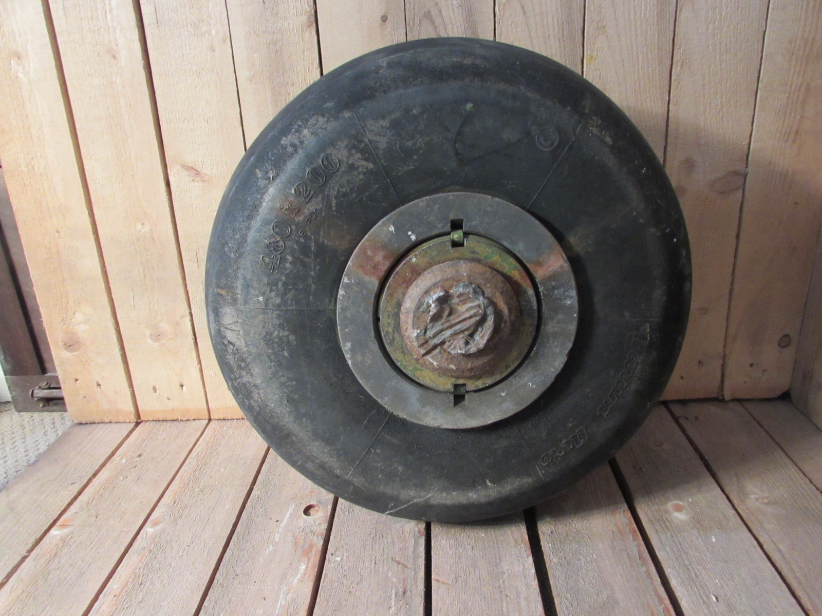SOLD MIG-15 fighter aircraft front wheel and tyre 1