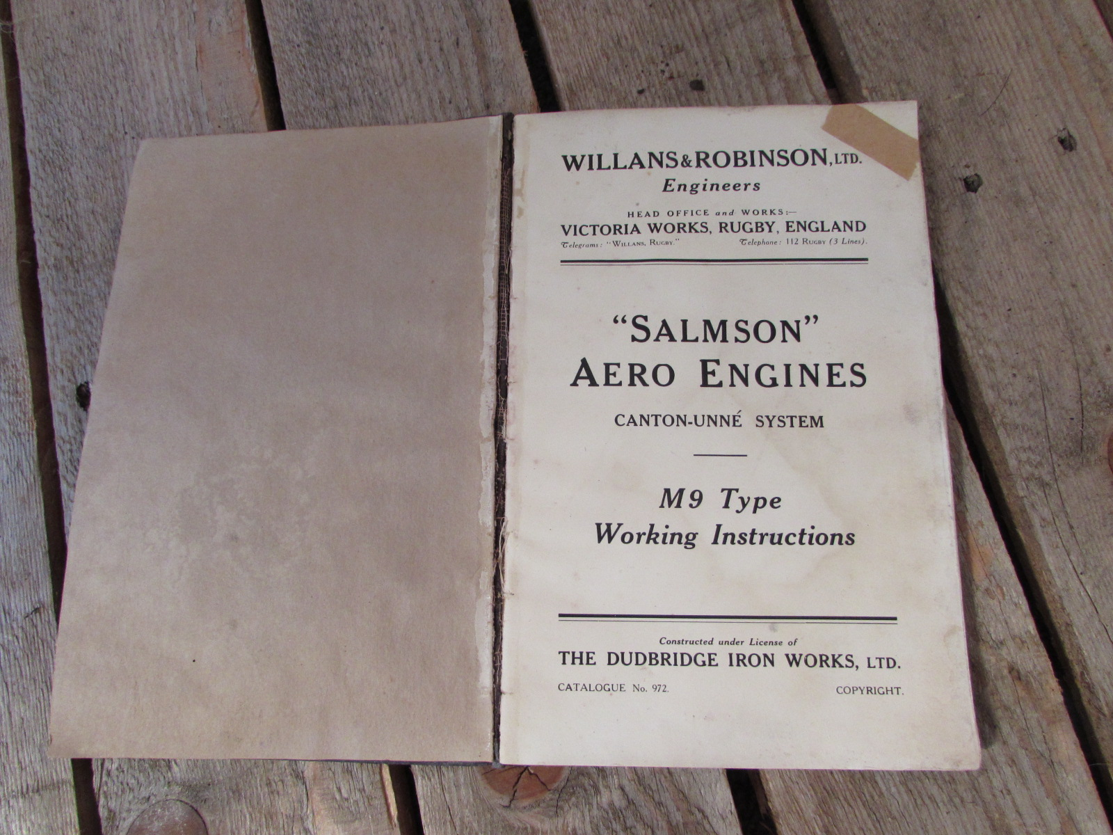 Rare 1916 Salmson Aero engines book