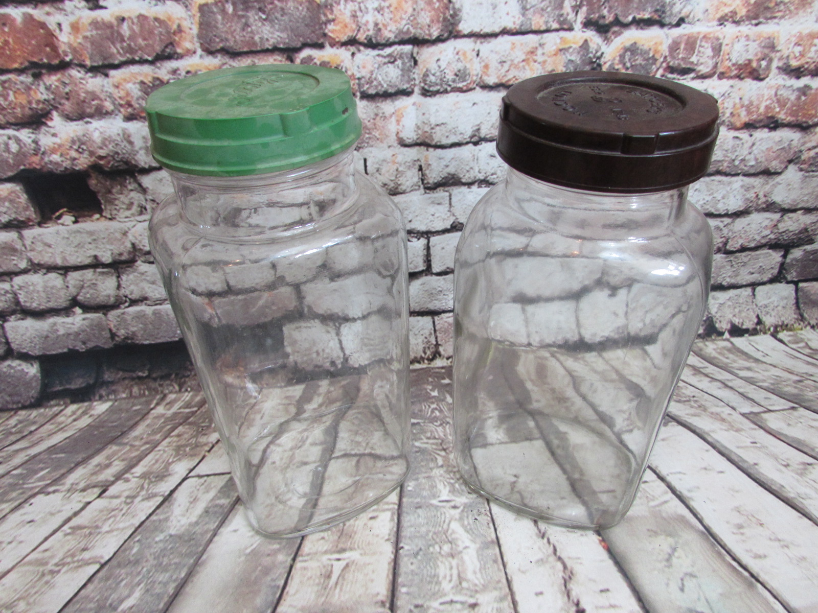 A pair of WW2 sweet shop jars