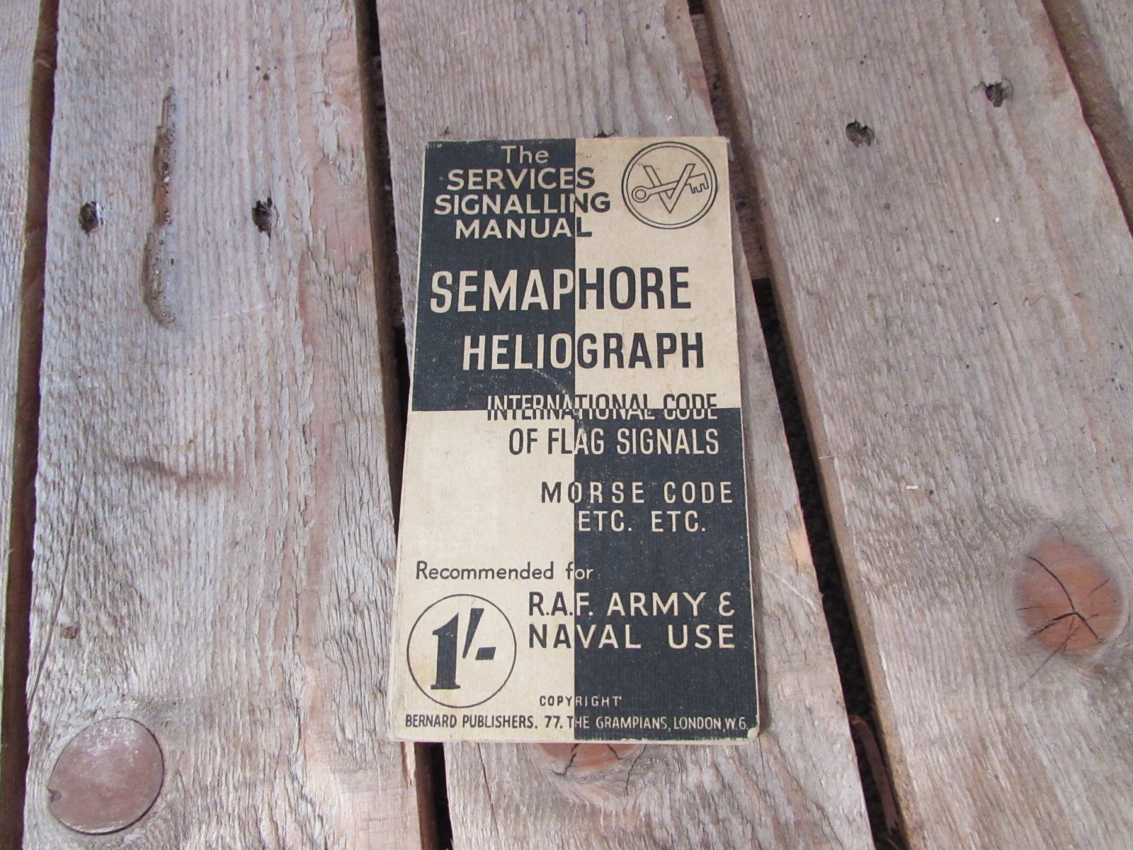 WWI Armed forces semaphore and heliograph booklet