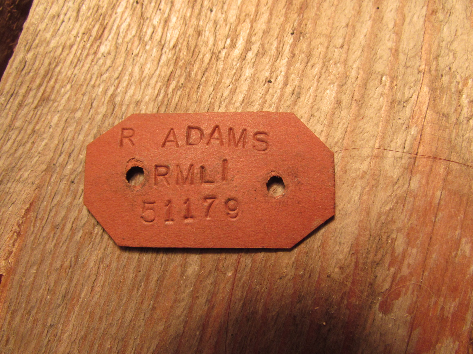 Grave marking tag WWII