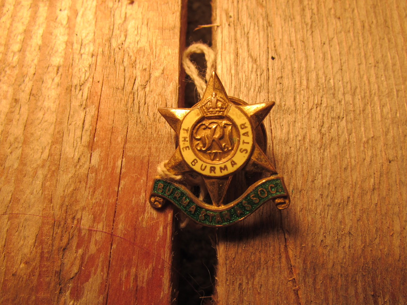 Burma star association badge