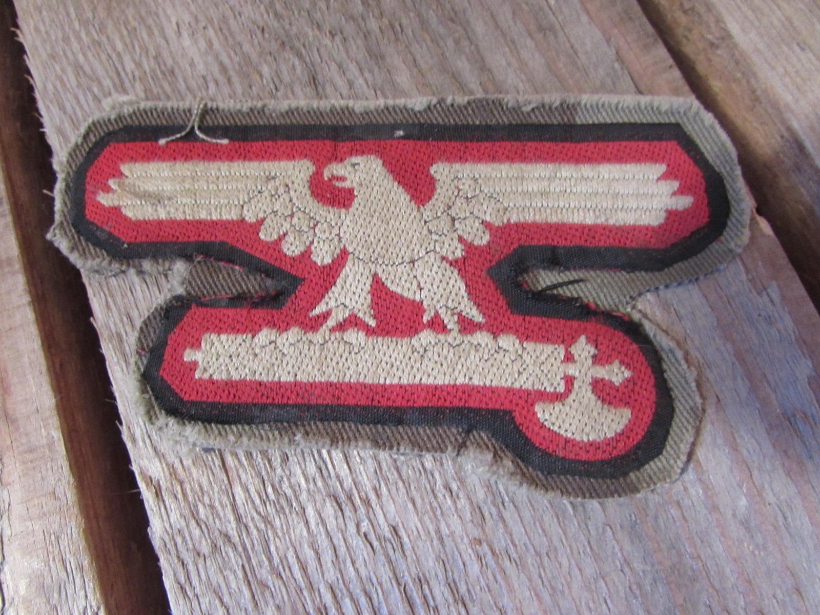 Waffen SS Italian volunteer insignia WWII, Sleeve eagle