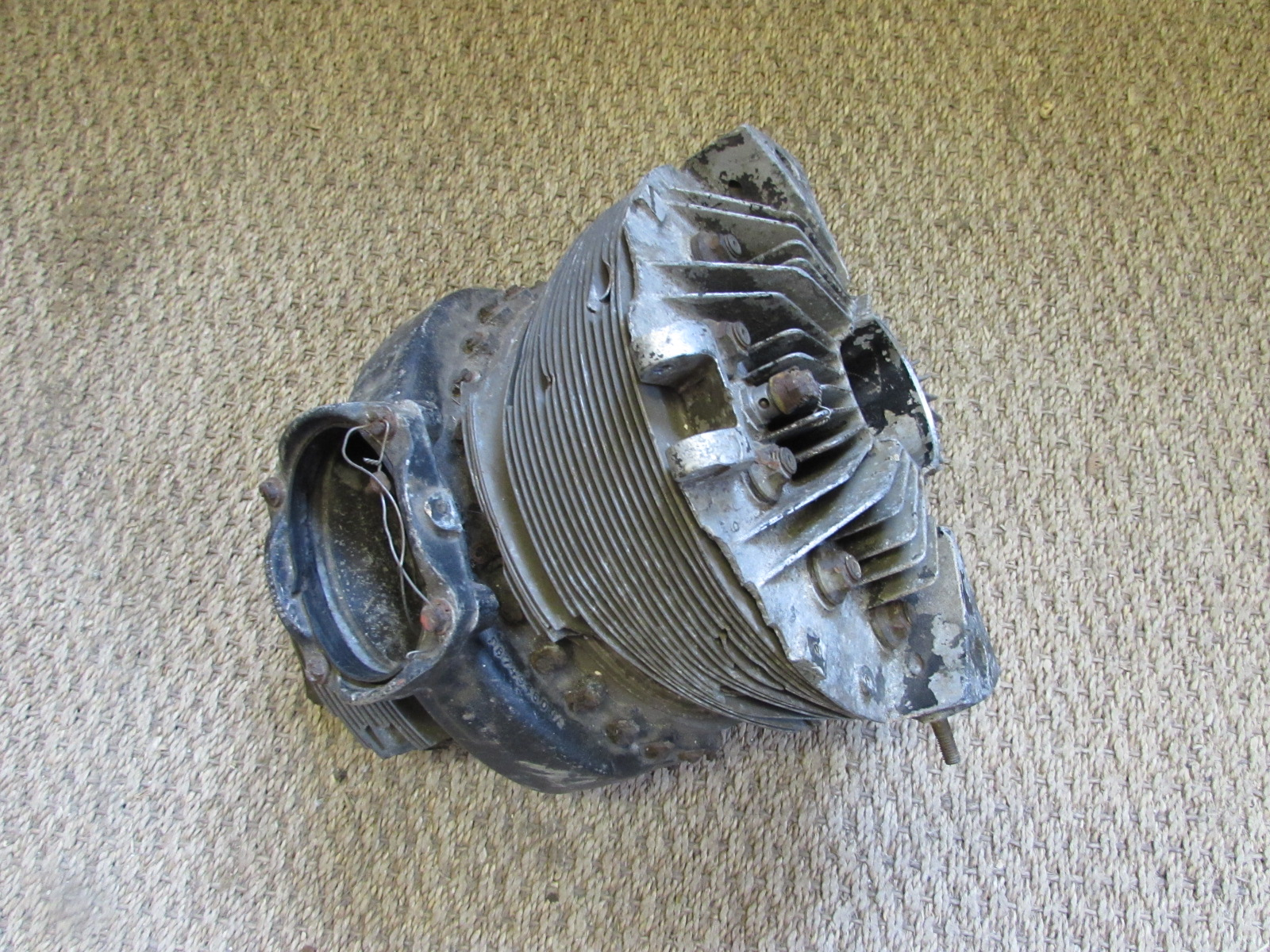 Part of the engine cylinder head from the Bristol Blenheim IF night fighter L6679