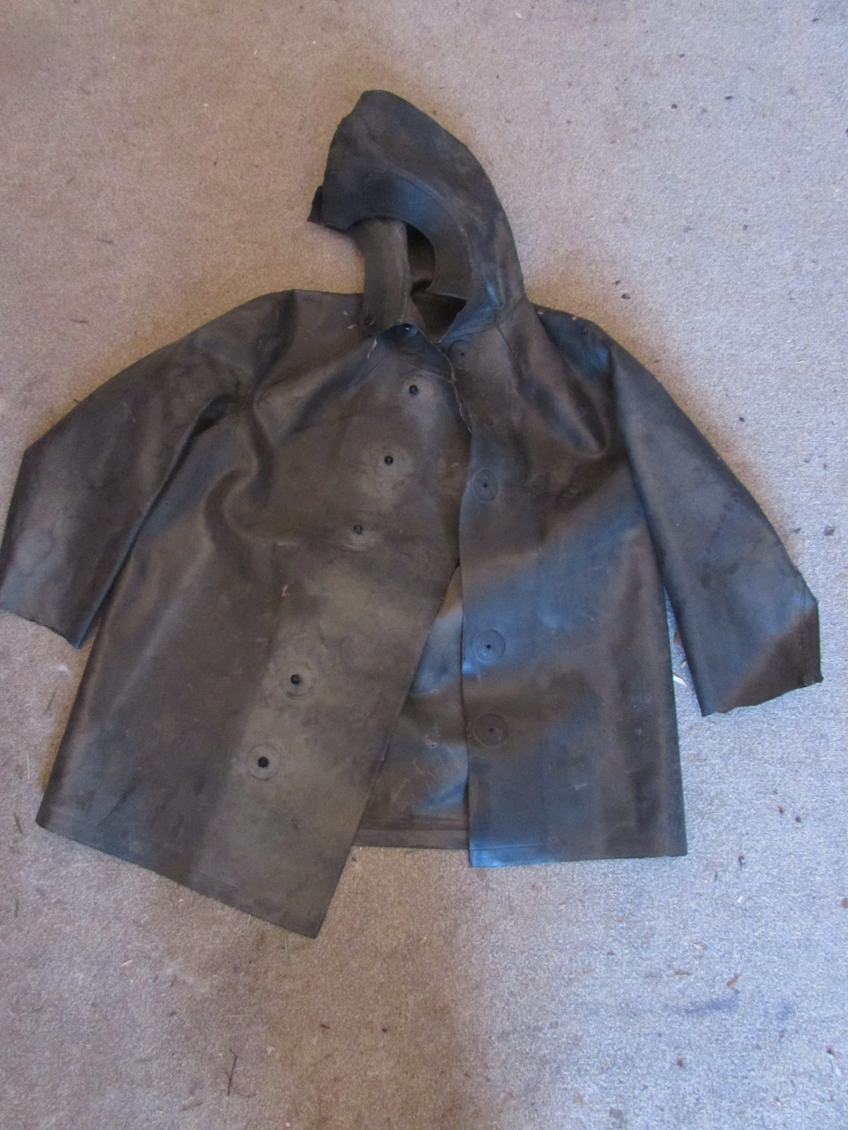 WW2 German army rubber chemical jacket 1