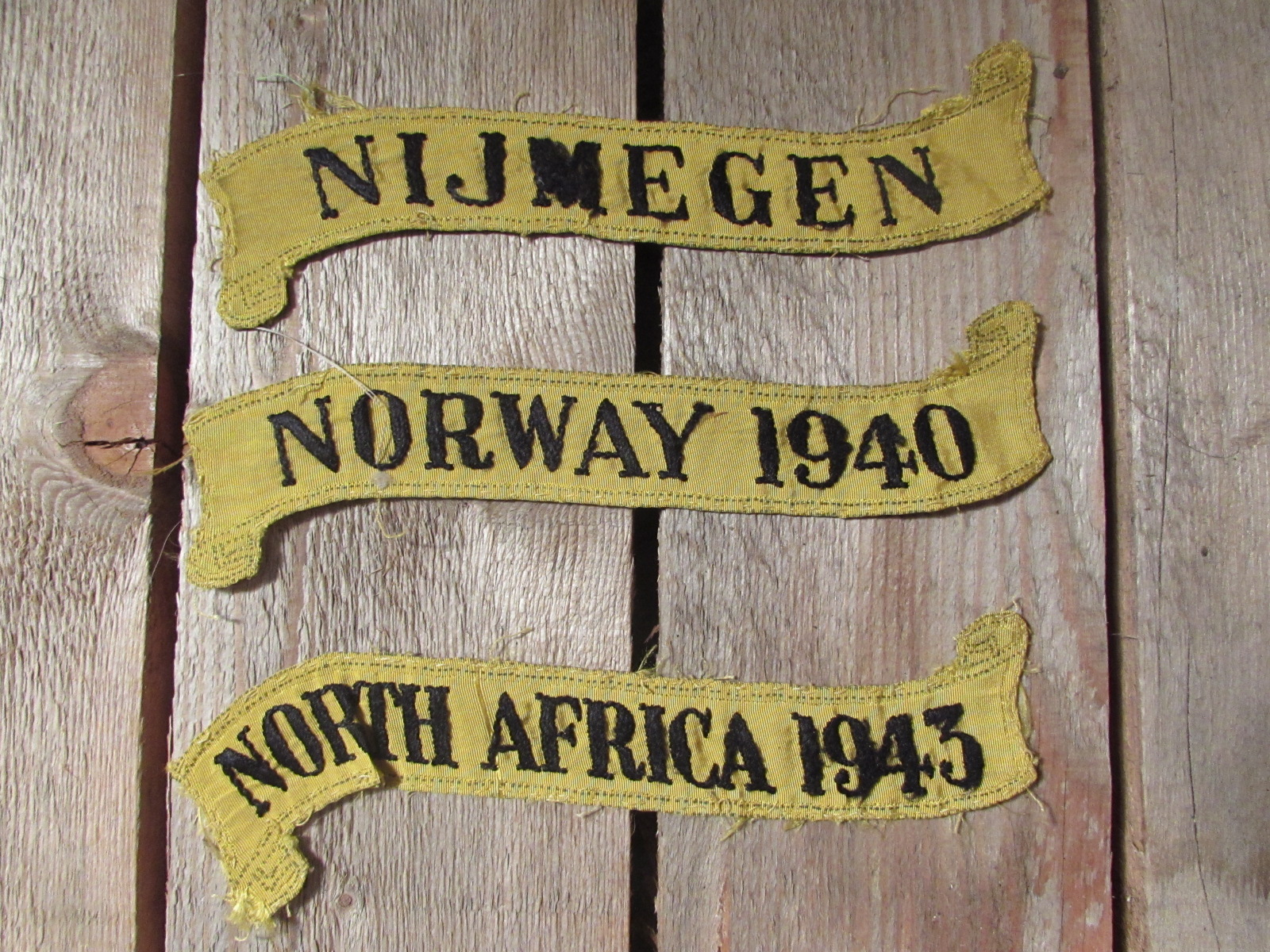 3x flag battle honours. Norway 1940, Nijmegen & North Africa 1943