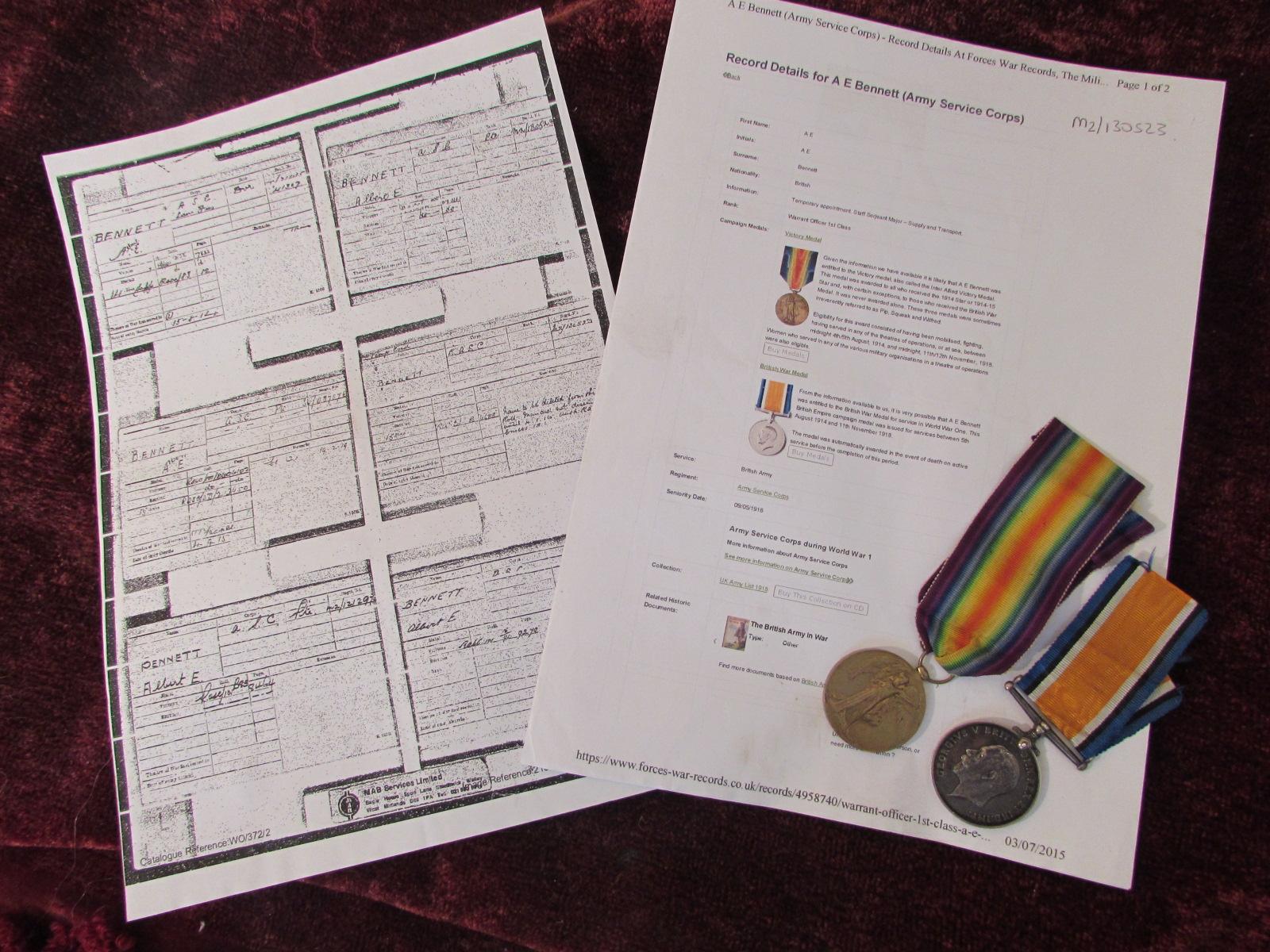 Victory & War Medals