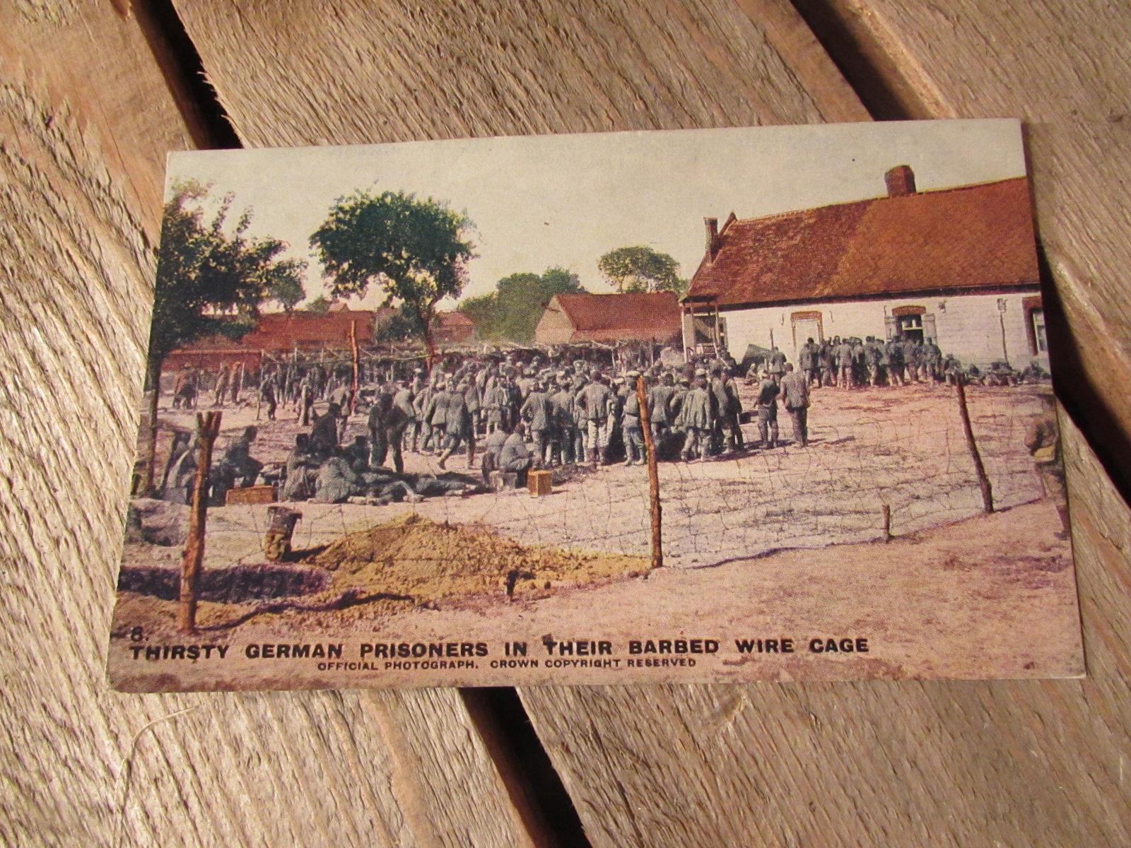WWI Original postcard (colourised) German prisoners 1