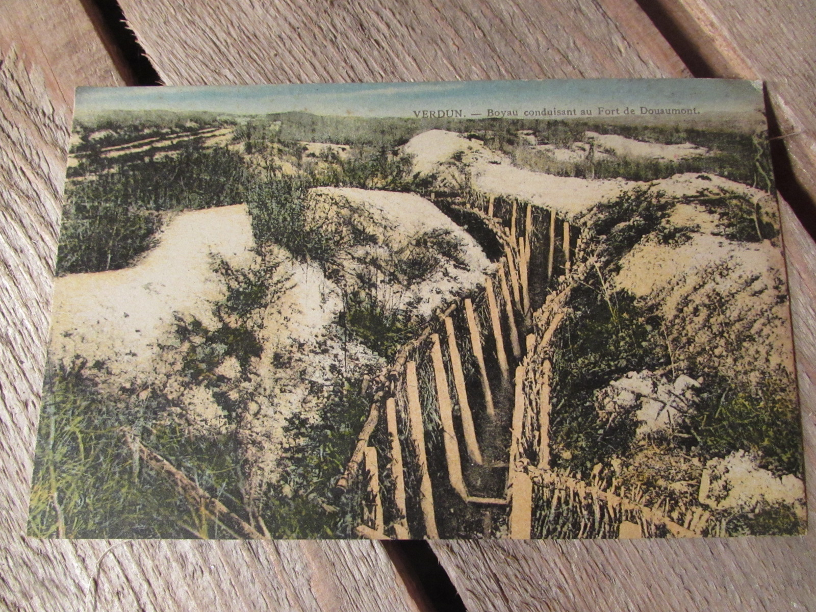 WW1 Colourised postcard from Verdun 1