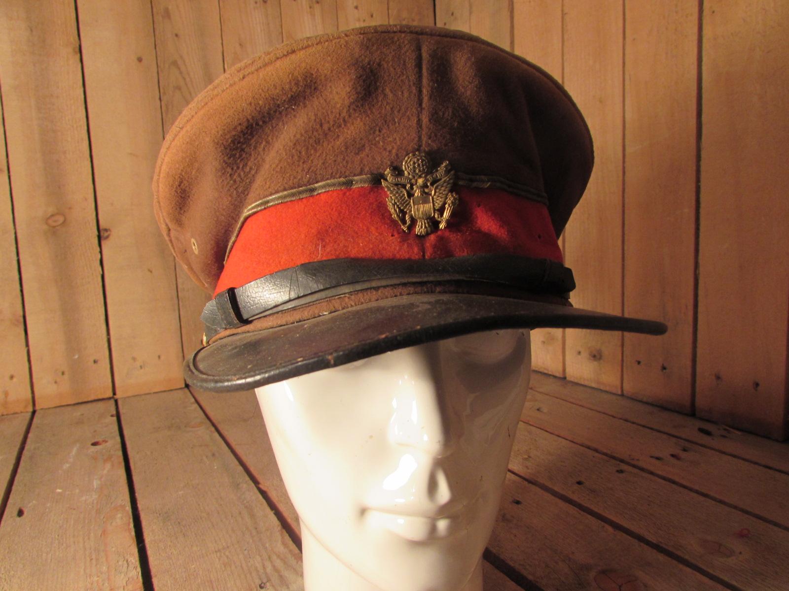American peaked cap WW1