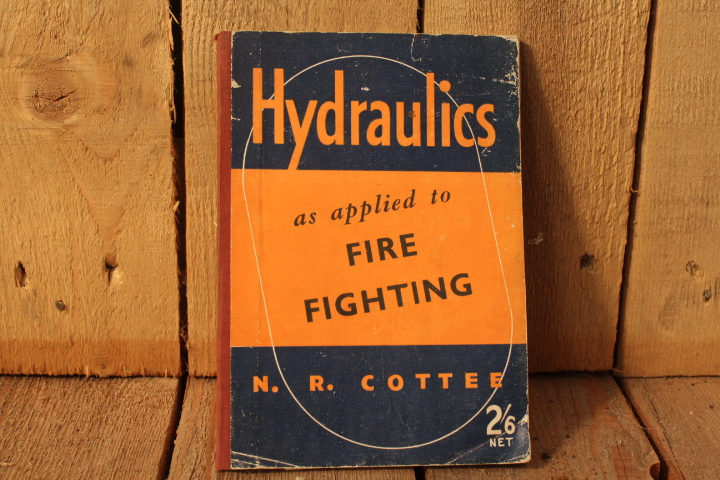 1941 Hydraulics for fire fighting book