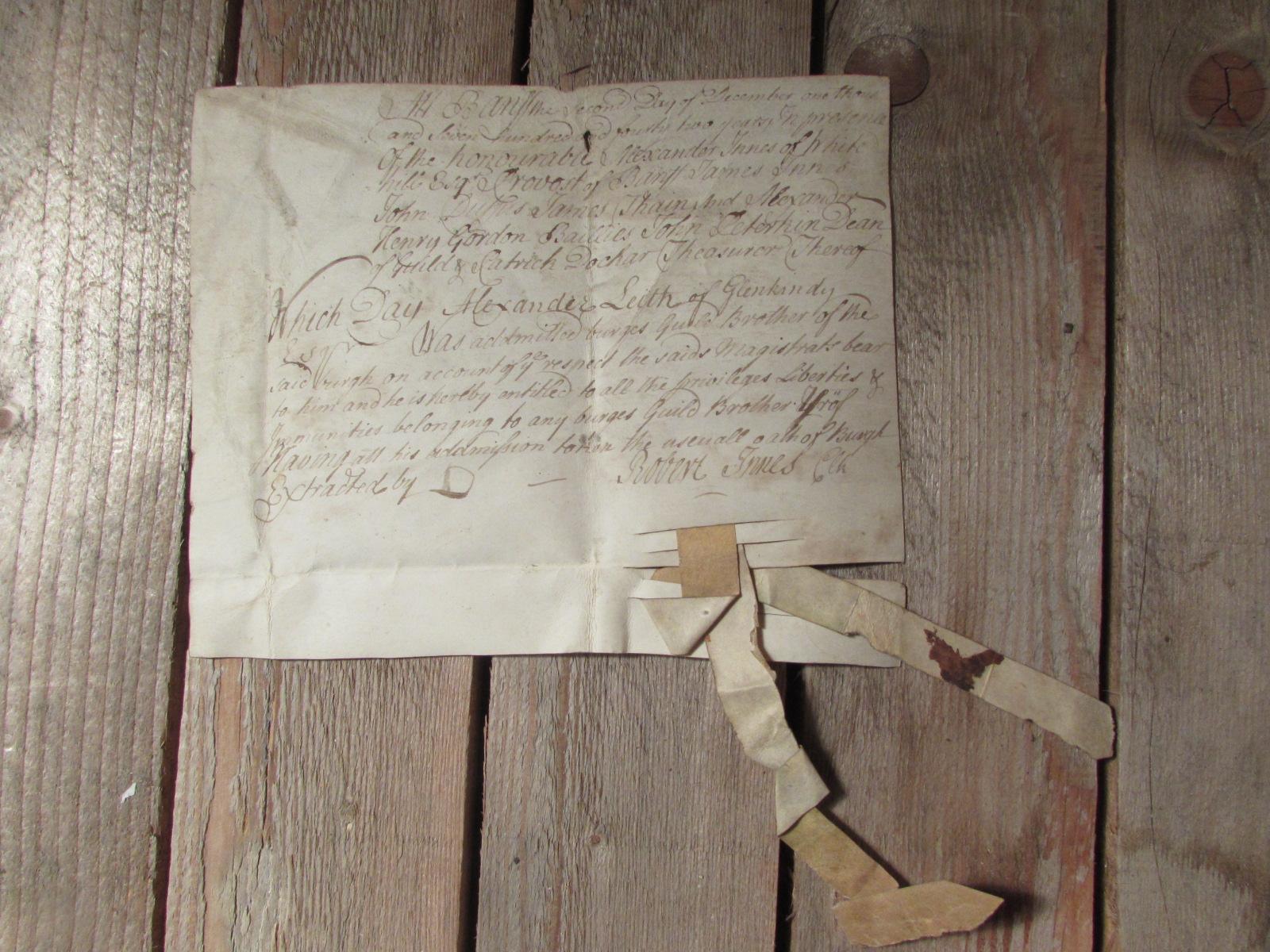 1743 Burges Act (Scottish)