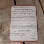 1915 Dated licence to drive a motor car, East Ham 1