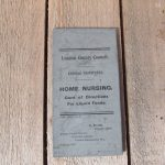 1x Home Nursing card dated 1915 L.C