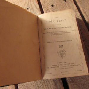 WW1 BIBLE