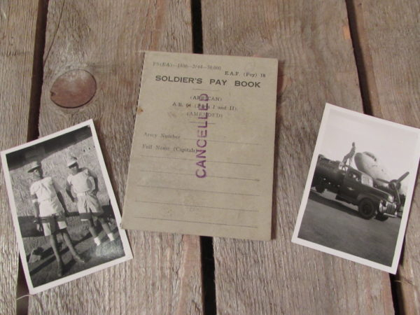 African soldier's Pay book and photo's