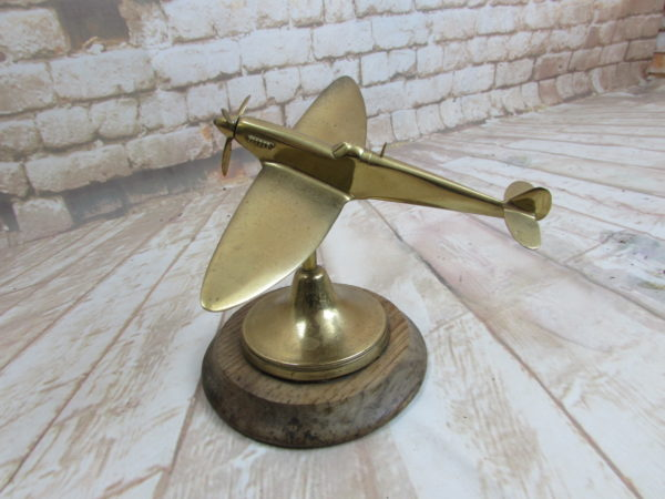 Spitfire model in brass